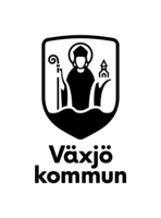 Vaxjo kommun logotyp staende svart